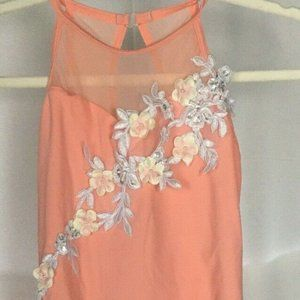 WEISSMAN dance costume dress girls size SC S Peach